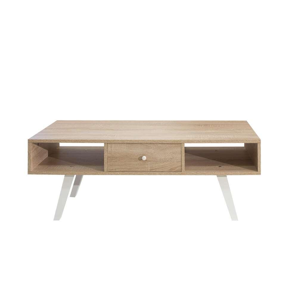 symbiosis meuble tv sindal couleur chene blanc 42 4x117x40 cm
