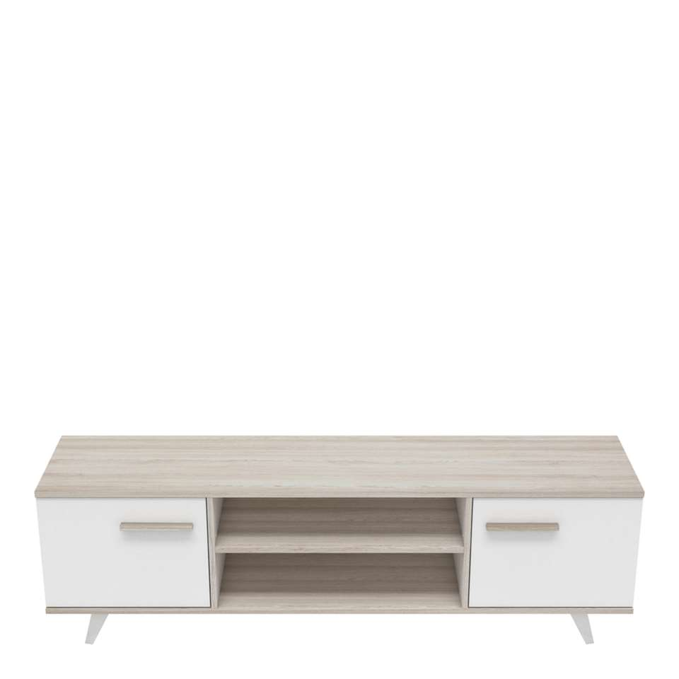 demeyere meuble tv willy couleur chene blanc nacre 46 2x151 4x39 3 cm