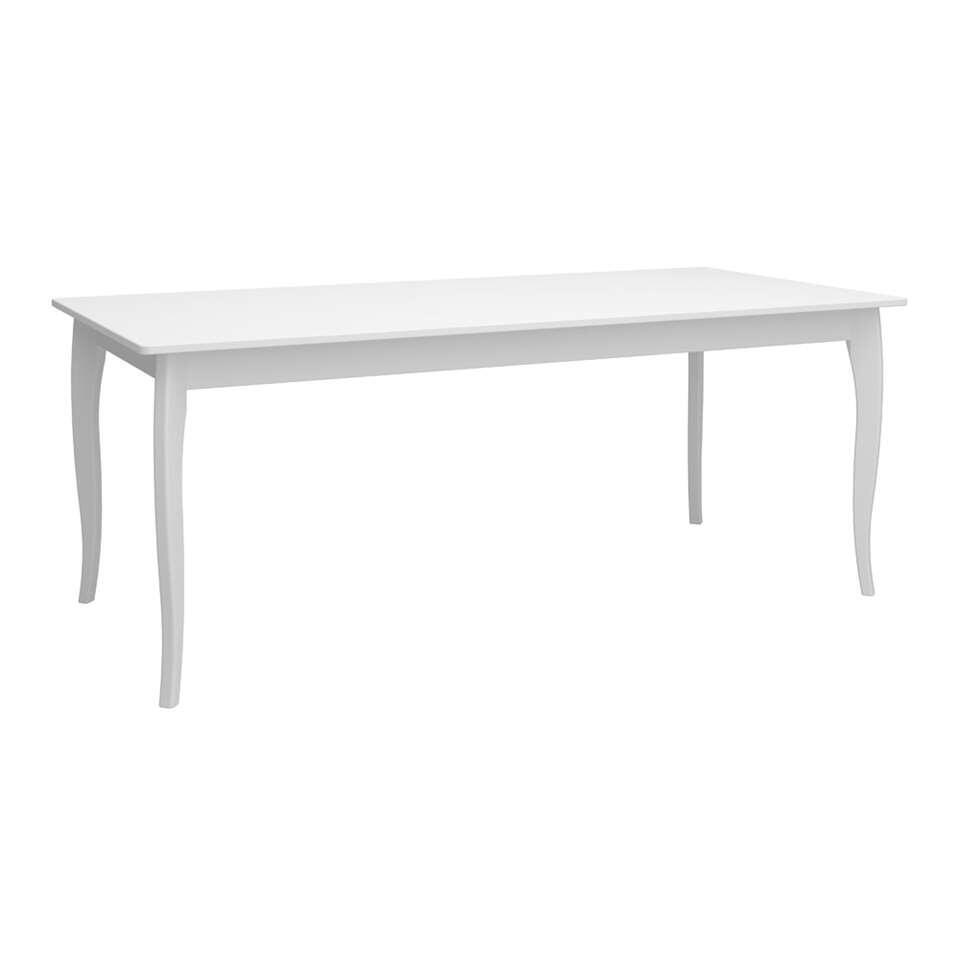 table de salle a manger baroque blanche 74x190x95 cm