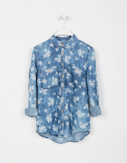 Lefties - printed denim shirt - 0-405 - 05492309-I2014