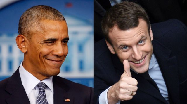 Image result for obama with macron
