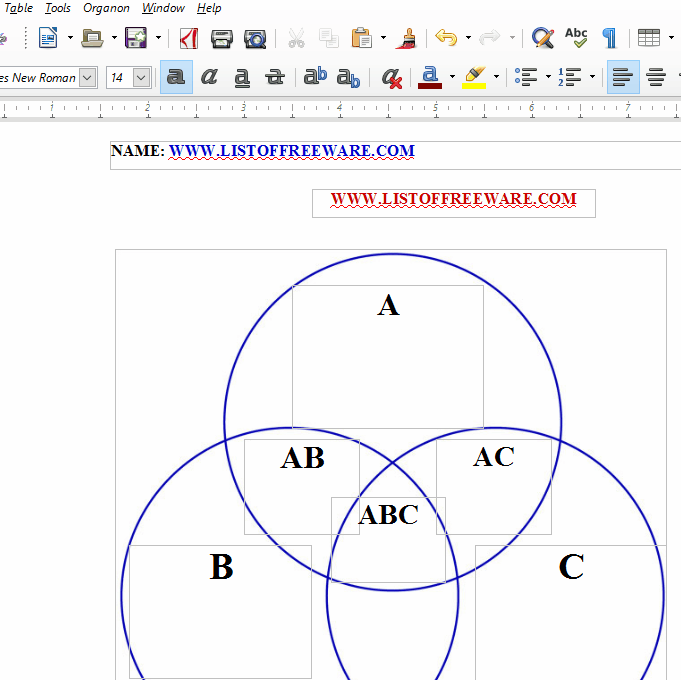 Circle Template For Word 10 best free venn diagram maker for – Word Venn Diagram Template