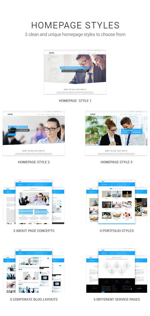 Liven - Modern Corporate - Business & Portfolio Theme for WordPress - 5