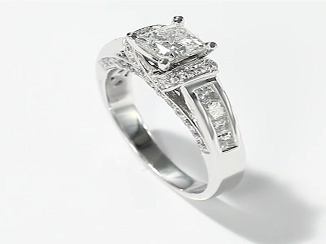 Tolkowsky Engagement Ring 1 38 Ct Tw Diamonds 14K White