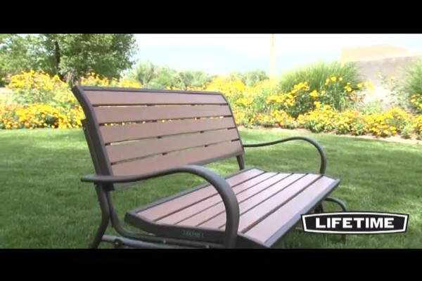 Lifetime 174 Faux Wood Glider Bench 187 Welcome To Costco Wholesale