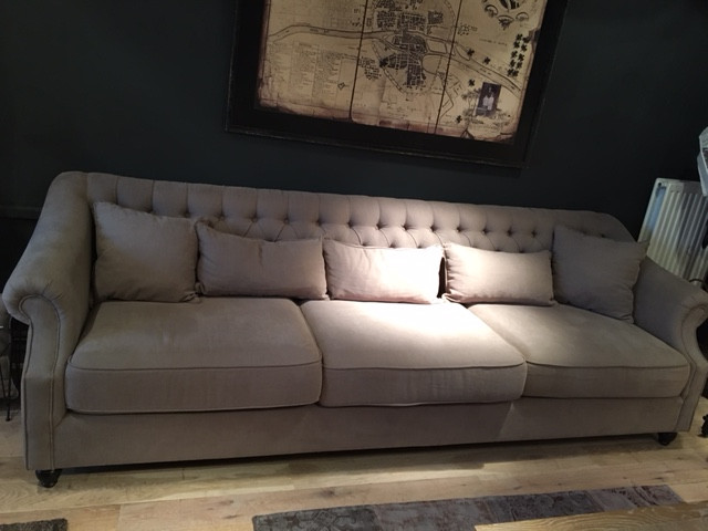 Chesterfield Sofa Haute Dos 3 Places LIVING Shop