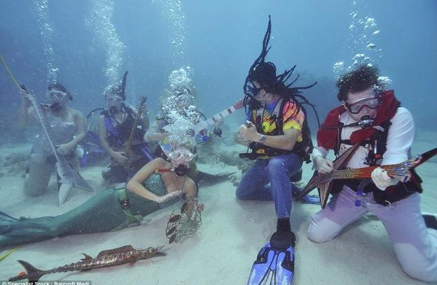 """Résultat de recherche d'images pour """"un festival mélange musique et plongée sous-marine"""""""