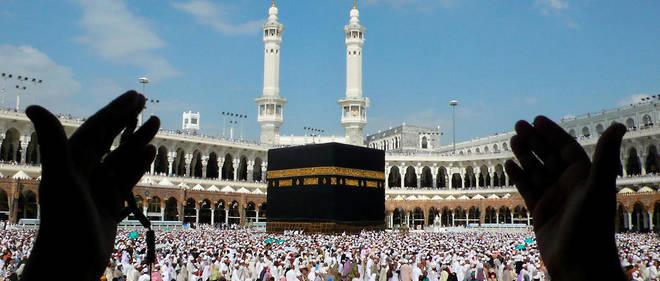 La Kaaba de la Grande Mosquee de La Mecque en Arabie saoudite.