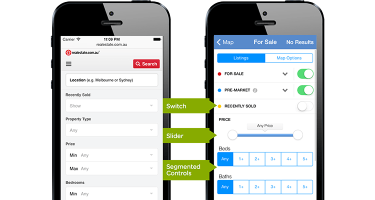 Alternatives to drop-down menus to consider in form design