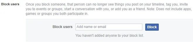 bloccare gli utenti nella chat di Facebook