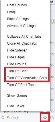 go offline on facebook chat