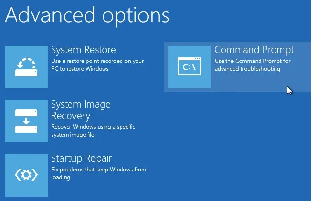 Command prompt startup options