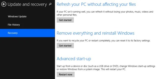 Enter Setup in Windows 8.1 - The Internet Tips