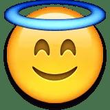 angelic emoji emoticon