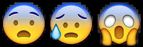 scared worried emoji emoticon