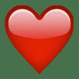 red heart emoji emoticon