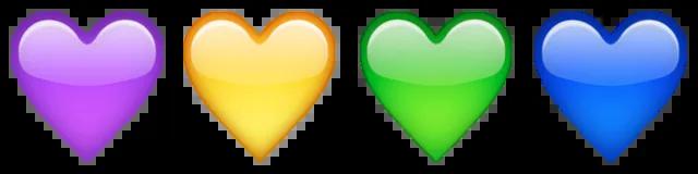 multi-colored hearts emoji emoticon