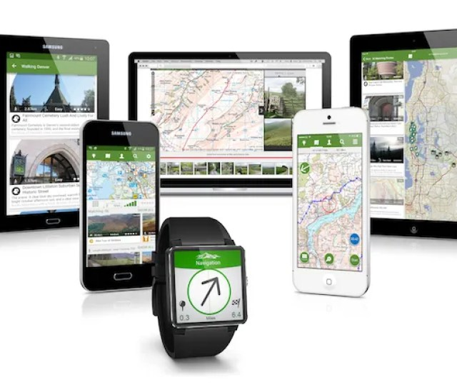 Some Outdoor Mapping Products Such As Viewranger Gps Can Share Basic Routing And Other Info To An Apple Watch Or Android Wear Smartwatch While Your Phone