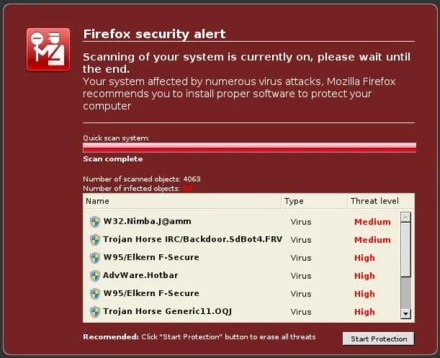fake malware messages website ads