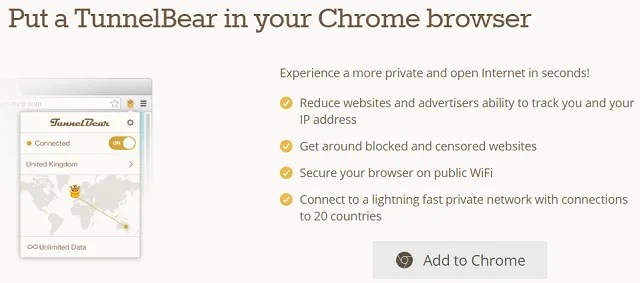 tunnelbear 640x283 - The 7 Best Free VPNs for Google Chrome