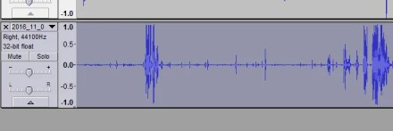 Remove background noise - Select the track header