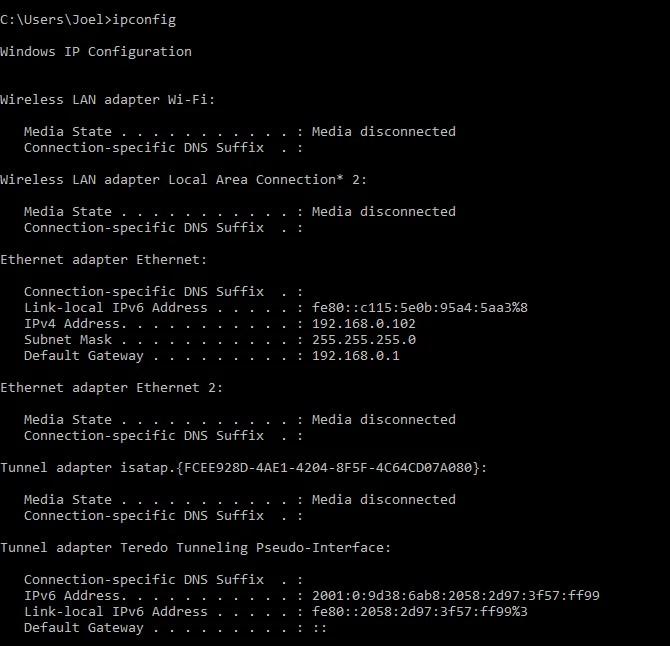 windows-command-ipconfig