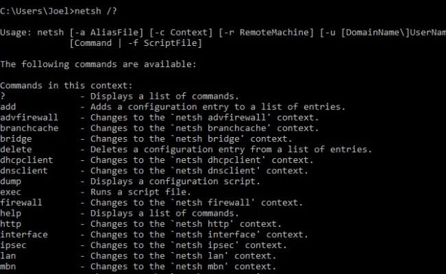 windows-command-netsh-help