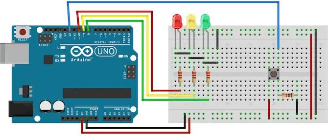 Arduino Programming For Beginners: The Traffic Light