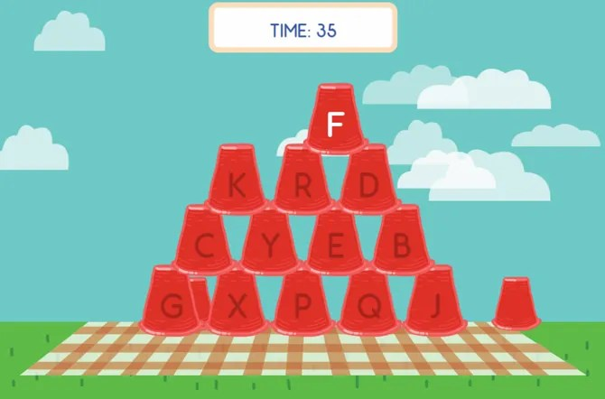 ABCyaDotCom CupStackTyping web2 - 10 Sites and Games to Teach Kids Typing the Fun Way