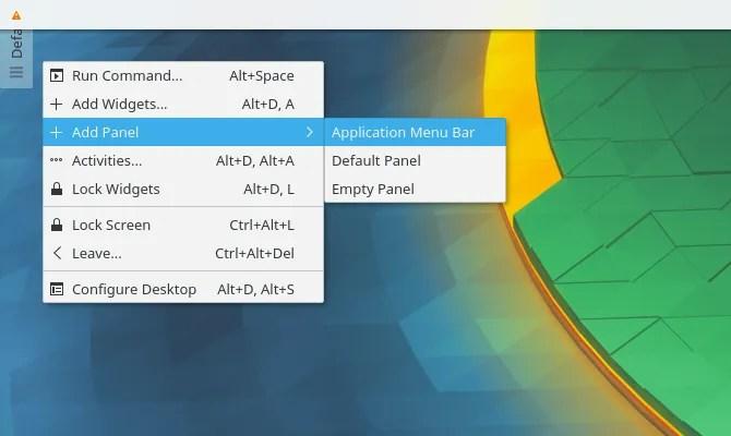 Установить панель меню в стиле macOS в Plasma