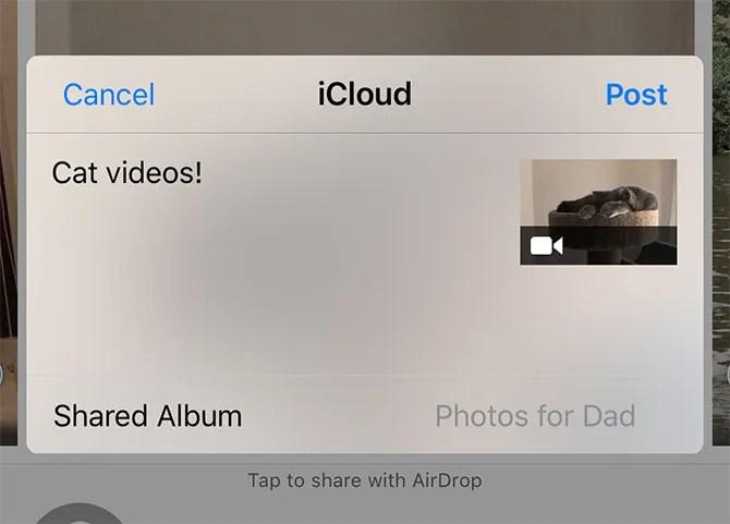 iCloud photos новый общий альбом