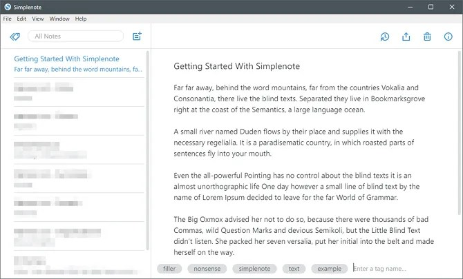 Simplenote note-taking app