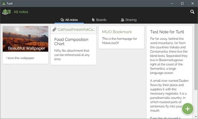 تطبيق Turtl لتدوين الملاحظات