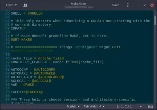 emacs makefile