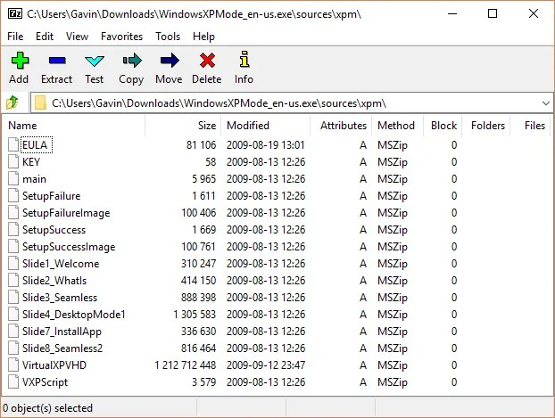 xp mode virtual hard disk