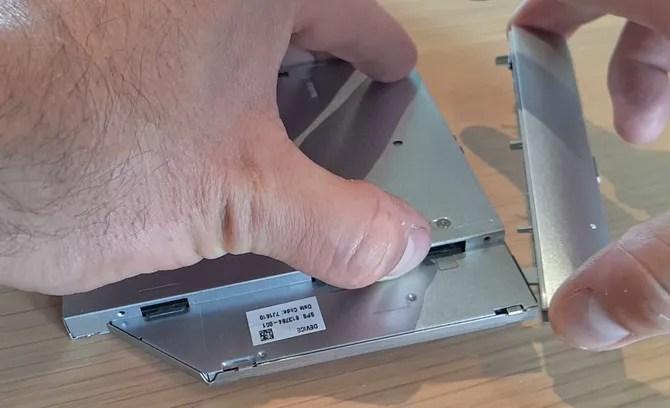 Remove DVD Drive Fascia
