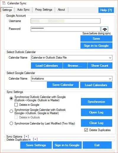 Calendar Sync for Outlook and Google Calendar