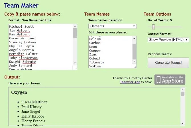 Team Maker Is The Easiest Random Team Generator Youll Ever Use