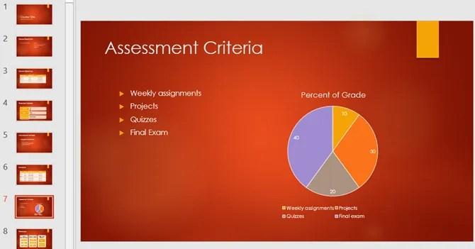 Обзор академического курса PowerPoint шаблон