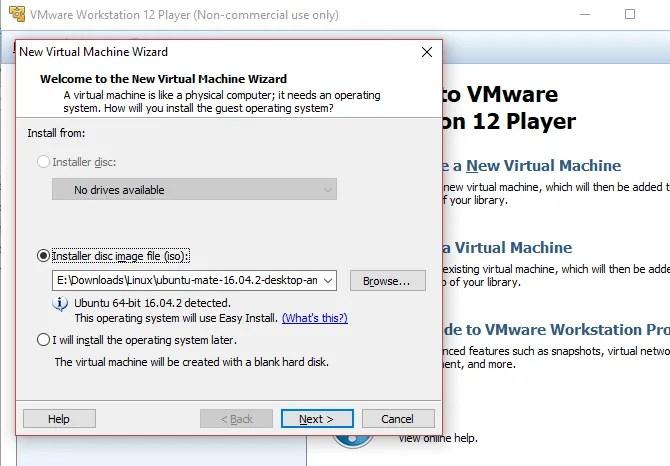 Crea una macchina virtuale Linux in Windows con VMWare