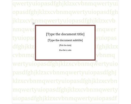 cover page template text background