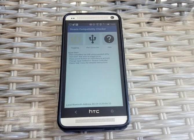 Sixaxis Проверка совместимости телефона Android