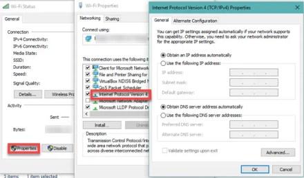 Windows 10 change IP settings