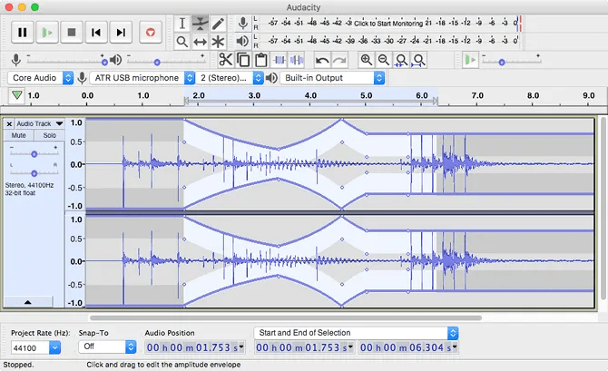 Audacity free music editing software - The Internet Tips