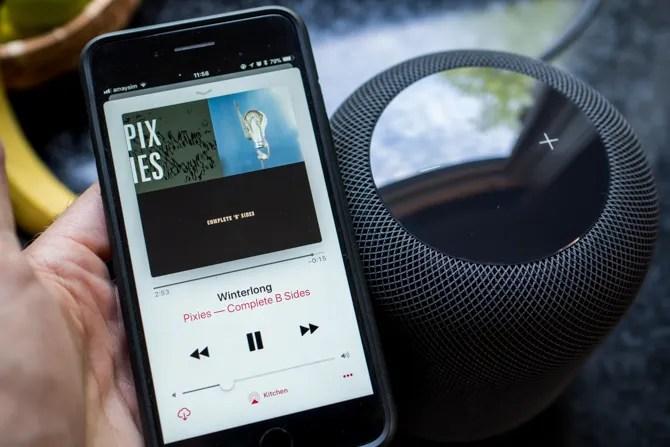 HomePod riproduzione di musica