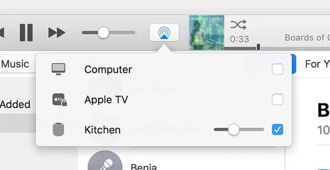 HomePod in iTunes