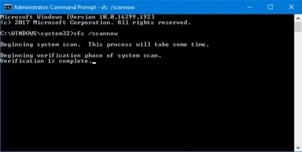 command prompt, sfc /scannow