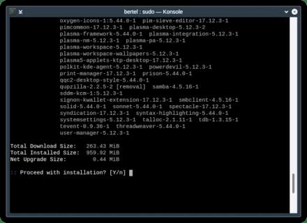 Arch Linux sudo Konsole