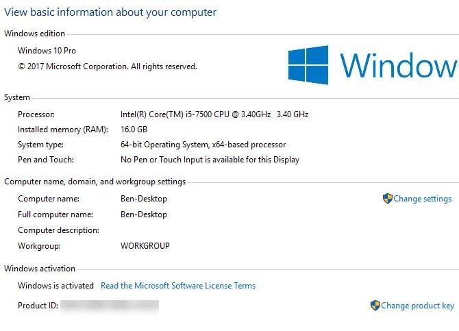 حالة مجال الكمبيوتر في Windows