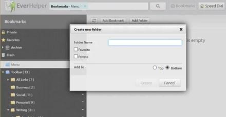 sync bookmarks with EverySync - create folder